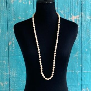 """Faux Freshwater Pearl Beads Necklace 36"""""""